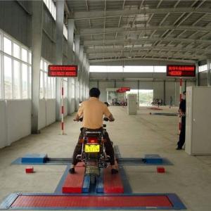 Motorcycle testing line